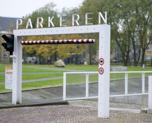 Foto van de ingang Geert Willigen parkeergarage
